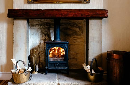 Cosy woodburner at Dales B&B
